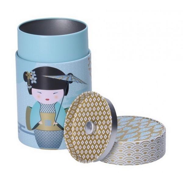 Boîte à thé New Little Geisha bleue 125 gr