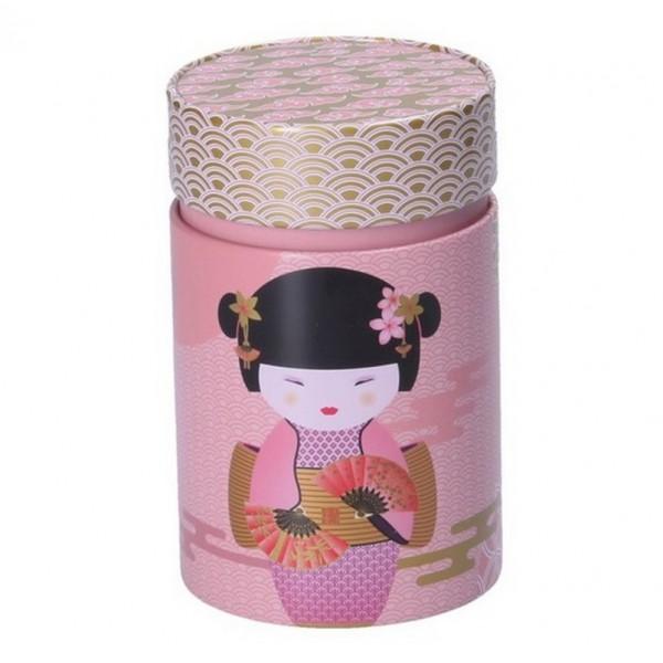 Boîte à thé New Little Geisha rose 125 gr