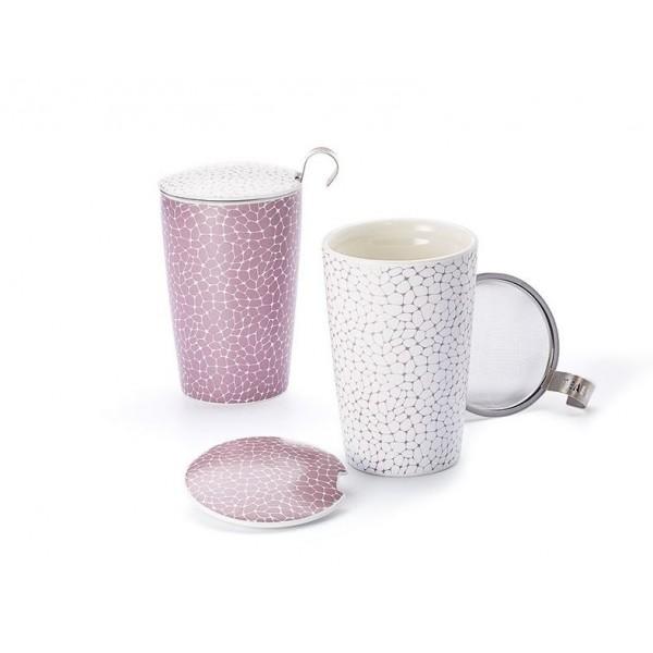 """Théière """"Stone Lilac"""" en porcelaine"""