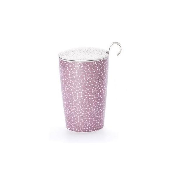 """Tisanière """"Stone"""" lila en porcelaine"""